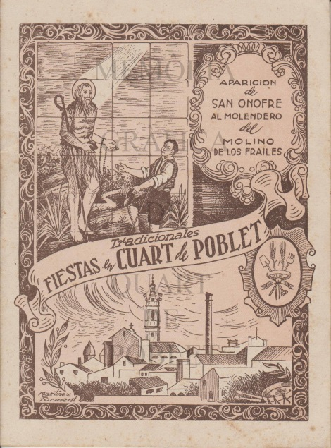 llibret festes 1952 Quart de Poblet skyline xemeneia industrial