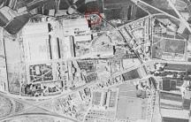 Ubicació de la xemeneia de ElCano (Foto aèria 1956).